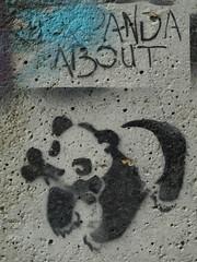 Panda About (Canvassing Cork) Tags: street ireland urban streetart art graffiti stencil panda walk cork olympus urbanart bone zuiko 1454 mardyke e410