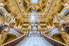 She knew how to make an entrance (chris.chabot) Tags: old paris france building classic stairs opera candles doors entrance ceiling historic entryway baroque paintedladies sweeping palaisgarnier opranationaldeparis