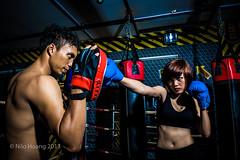 The fighter (Nilo Hoang) Tags: nikon fighter ring boxing strobe nữ võ strobist d700 đài võđài nilohoang võsỹ quyềnanh