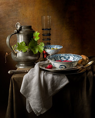 Still Life with Ming Bowls (after Jan Jansz) (kevsyd) Tags: stilllife pewterjug mingbowl kevinbest dutchstilllife pentax645d