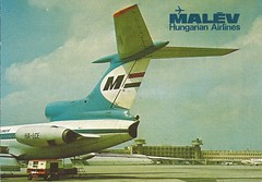MALEV Hungarian Airlines Tu-154 Ferihegy (postcard) (B767fan) Tags: airport aviation postcard budapest postal flughafen magyar aeropuerto tupolev ferihegy postkarte tu154 malev tupolew repls malv tupoljev ty154 halce