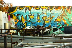 Miez (MR. NIC GUY ^.^) Tags: california urban streetart art landscape graffiti losangeles paint crew lm graffitiart miez