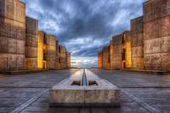 Salk Institute (Justin in SD) Tags: city sunset cloud storm color architecture clouds canon highresolution cloudy dusk lajolla institute research canon5d bluehour salkinstitute hdr salk ucsd canon5dmarkiii 5d3 canon5dmark3