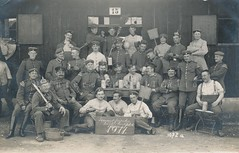 Funny postcard showing men of the Kgl. Bayer. 16. Infanterie-Regt. Groherzog Ferdinand von Toskana on a binge (Paranoid_Womb) Tags: war wwi german imperial worldwarone soldiers drunks ww1 greatwar barracks worldwar tassel bavarian 1911 spikedhelmet pickelhaube preww1 lagerlechfeld troddel prewwi