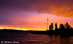 Sunset over Lake Burley Griffin, Canberra (Canon-Kid) Tags: sunset lake point regatta canberra lakeburleygriffin