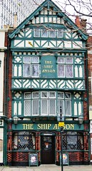 Ship Anson (sueeverettuk) Tags: door uk windows england pub whitbread hampshire portsmouth hants tudorstyle thehard sueeverett