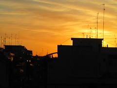 (xsleepingsun) Tags: blue sky urban italy sun clouds canon buildings afternoon view bari antennas
