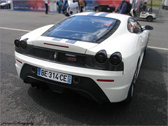 Ferrari 430 Scuderia 4.3 '07 (Falcon_33) Tags: street paris cars italia wheels engine autoshow ferrari salon gt lamborghini luxury supercar v8 v10 v12 exaust prestige sportcars dohc mondialdeparis iamthespeedhunter be314ce