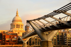 St Paul's (Sam_Carpenter1974) Tags: london church sunrise stpauls millennium millenniumbridge