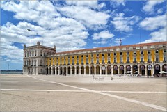 Praa do Comrcio | Lisbon, Portugal (Stefan Cioata) Tags: plaza city travel summer vacation sky people urban holiday building bird tourism portugal beautiful lines yellow clouds square photography marketing europe do view image sale lisboa lisbon exploring details capital great joy wide perspective landmark visit scene explore most getty destination sight lovely top10 sell iconic available praca comercio lisabon advertise terace touristical flickrandroidapp:filter=none