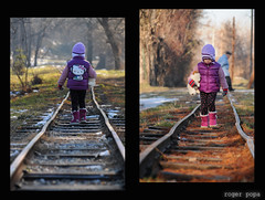 Angela (roger_popa) Tags: railroad child romania fata pitesti copil caleferata rogerpopa