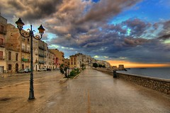Lungomare di Trapani ( Explore ) (rinogas) Tags: sunset sea italy cloud sicilia trapani photomix rinogas bestevercompetitiongroup creativephotocafe besteverexcellencegallery