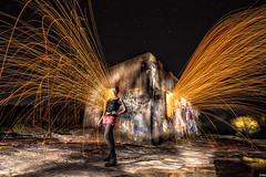 guess i got my swagger back?! (mark silva) Tags: lightpainting manly australia torch nsw paintingwithlight flashlight northhead woolspin mickyg9