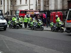 Met Police Biker Rally (kenjonbro) Tags: uk england westminster work march rally protest trafalgarsquare demonstration motorbike bmw motorcycle charingcross 2012 2010 sw1 wc2 metropolitanpolice r1200rt righttowork kenjonbro fujifilmfinepixhs10 bk10xja bx59bwz bx12kfw lh12dzr