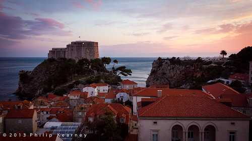 Dubrovnik Castle at Sunset
