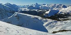 Bye Bye Bowl Looking South (DCZwick) Tags: winter snow canada ski mountains sunshine rockies tracks skiresort alberta rockymountains assiniboine continentaldivide sunshinevillage canadianrockies mtassiniboine byebyebowl