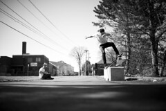 Natty Light Back Blunt! (RyanLebel) Tags: new is other spring nikon shoot day photos air voigtlander some nb fredericton skate skateboard got chance f2 40mm kurtis blunt shea finally frontside d700 cv40