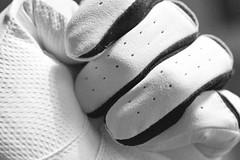 Grainy Glove (Mike Docherty) Tags: white golf mono grain glove