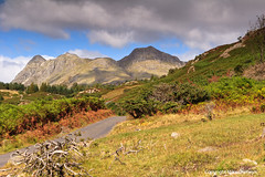 The Langdales (MikeChet) Tags: england fall landscape unitedkingdom wildlife lakedistrict places flowersplants littlelangdale thelangdalepikes