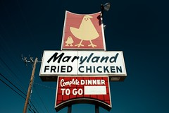 Complete Dinner To Go (MilkaWay) Tags: dublin usa sign georgia restaurant fastfood roadside vintageadvertising us441 dinnertogo laurenscounty marylandfriedchicken vacuumsign