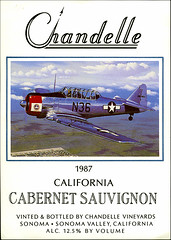 ephemera - Chandelle Vineyards wine label (Jassy-50) Tags: california plane airplane label sonoma ephemera winery trainer texan at6 chandelle winelabel oam at6texan oaklandaviationmuseum chandellewinery chandellevineyards