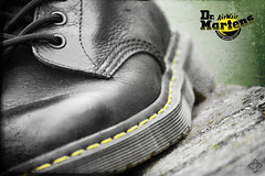 Dr Martens Seams (David TAPIN) Tags: texture canon advertising pub shoes cross boots dr processing martens seams 1460 450d coutures 55250mm bouncil
