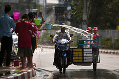 Happy New Year (paza140) Tags: water festival kids thailand traffic pickup newyear motorbike motorcicle paza140