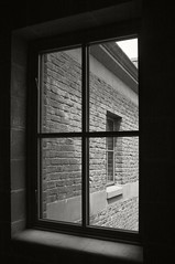 view to a view (frntprchprss) Tags: blackandwhite brick window jamesgehrt