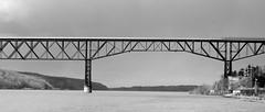 Part Of The Walkway (Catskills Photography) Tags: bridge blackandwhite hudsonriver canons95