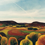 "<b>Autumn Contrails</b><br/> Eckheart, #979, Oil, Paintng<a href=""http://farm9.static.flickr.com/8242/8655585490_2d6b0bdc84_o.jpg"" title=""High res"">∝</a>"