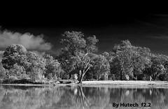 As Still as a Lake Allows_edited-1 (Hutech_f2.2 (I'm staying too!)) Tags: blackandwhite digital landscape nikon 85mm australia infrared wodonga f14g d700 sumsionlake