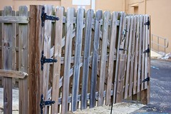 Wooden Fence enclosure (LarryJay99 ) Tags: street wood urban macro handle wooden gate westpalmbeach locks usm 60mm efs f28 woodgrain handles latch hasp floridacanon