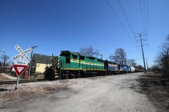 Wide Angle Railkink (M. Lastovich) Tags: chicago bay illinois rail railway trains link hudson railroads crl raillink emd hbr 2501 gp35 omnitraxx