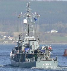 ORP Czajka 624 (4) @ Greenock 15-04-13 (AJBC_1) Tags: uk england riverclyde boat ship unitedkingdom military navy vessel nato warship minesweeper mcv 624 navalvessel polishnavy minehunter jointwarrior orpczajka ajc ajc