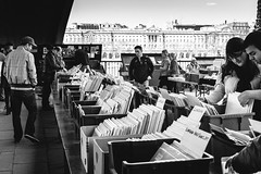 Week Eight (iamsam_uk) Tags: people house records london thames river book market stall somerset books tourists southbank read busy buy stalls browse vscocam