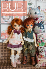 RURI & SHURI (= ann =) Tags: doll bjd superdollfie balljointed volks yosd lin shin twin dollheart