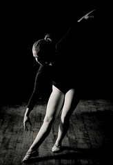 Tiny dancer (Stu115) Tags: portrait black white mono pentax mill dancer model girl pretty ballet leotard dance stretch pose
