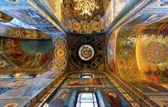 RUSSIE - Saint Petersbourg - église du Saint-Sauveur-sur-le-Sang-Versé (AlCapitol) Tags: églisedusaintsauveursurlesangversé église church nikon d800 russie saintpetersbourg plafond peinture intérieur architecture mosaïque russia rusia