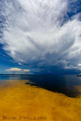 Bokeelia Storm Moving In (tropicdiver) Tags: bokeelia florida leecounty barrierisland charlotteharbor clouds dock fishingpier gulfofmexico minimalism thunderstorm