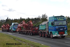 ALLELYS HEAVY HAULAGE TRIO (denzil31) Tags: allelys heavyhaulage dafxf 480 superspace t500 ahh man tgx 680 v8 t700 goldhofer specialist trailer transport grider stgocat3 a9 sse 154t transformer fort augustus
