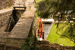 Mill wheel. Le Perche, Normandie, France (martine_vise) Tags: leperche orne france mill millwheel greenery trees river sunday oldstones stonehouse oldhouse charmhouse waterreservoir beautifulplace nature calm beautifulday normandie