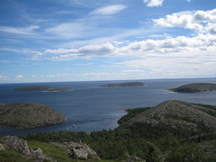 panorama (VERUSHKA4) Tags: seascape white sea canon europe russia karelia nature verdure tree forest mountain vue view summer day august travel panorama perspective cloud kuzova islands two boat top