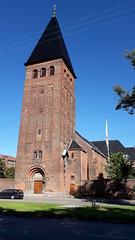 St Augustine's Church, next to Niels Steensens Gymnasium, Copenhagen (Pjposullivan1) Tags: sanktaugustinskirke staugustineschurch copenhagen churchtower jesuitchurch emiljrgensen nielssteensensgymnasium