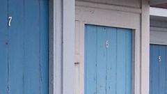 St. Margaret's Bay - Kent (jcbkk1956) Tags: worldtrekker doors numbers coolpix4300 nikon beachhuts huts seaside kent stmargaretsbay