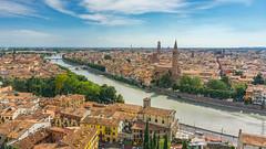 Verona in the Summer glow.jpg (Theoria Photography) Tags: italy cityscape adige river verona summer