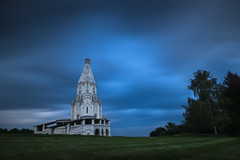 The Loneliness (VIIIIVIIIIX) Tags: russia moscow kolomenskoye estate church ascension summer longexposure 30sec sky tree grass drama blue green white great amazing clouds nd1000