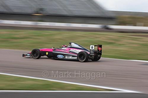 Carrie Schreiner in British F4 at Rockingham, August 2016