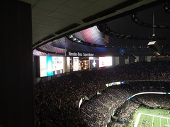 Big TV (skooksie) Tags: louisianasuperdome superdome scoreboard saints sports neworleans