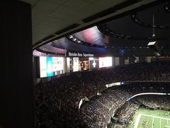 Big TV (skooksie) Tags: louisianasuperdome superdome scoreboard saints sports neworleans