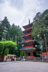 The Pagoda (Pikaglace) Tags: sony a7 nikko japan japon pagode red pagoda rouge etages temple shrine holy religion religious